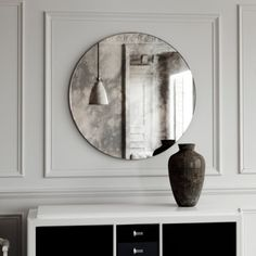 Etsy Roundup: Scandinavian Decor | See this antiqued frameless mirror and more of our favorite Nordic decor from Etsy at TheTwinsNextDoor.com