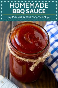 This homemade BBQ sauce is a blend of tomato, spices and brown sugar, all simmered together to create a rich condiment that's perfect for any barbecue. Homemade Barbeque Sauce, Barbecue Sauce Recipes, Healthy Grilling Recipes, Vegetarian Barbecue, Homemade Sauce, Vegan Grilling, Grilling Tips, Smoker Recipes, Homemade Recipe