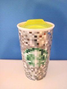 Starbucks Rodarte Pixel, Pixelated Ceramic Travel Mug, 2012 #Starbucks