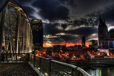 Dramatic sky in Nashville
