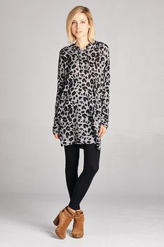 In the Wild Leopard Tunic #JessLeaBoutique