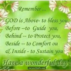 God is here to bless you! Have a wonderful day!