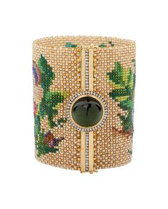 Silvia Furmanovich porcelain beaded cuff...this is an amazing piece