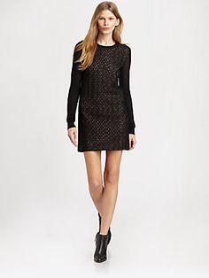 Diane von Furstenberg Linot Bis Lace Sweaterdress