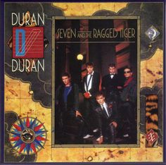 Malcolm Garrett /David (Assorted Images): Front LP cover for Duran Duran's 'Seven & The Ragged Tiger'