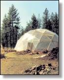 closed eco-system dome greenhouse ... food AND fish hmmm