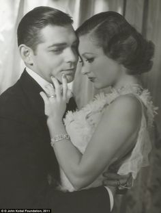 """Clark Gable and Joan Crawford in a photograph for """"Dancing Lady"""" in 1933 by George Hurrell"""