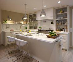 Maravillosos diseños de cocinas con isla #cocinas #diseño #decoracion https://www.homify.es/libros_de_ideas/113555/maravillosos-disenos-de-cocinas-con-isla