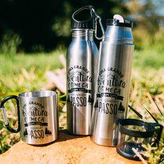 Uma aventura só está completa com os acessórios necessários: água e uma bebida quentinha. ❤️