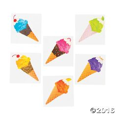 They'll scream for ice cream - tattoos, that is! Easy to apply and remove, these Ice Cream Party Tattoos will add a sweet look to partygoers. Drop a few ...