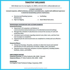Carpenter Resume Templates Magnificent Software Manager Resume Examples  Resume  Pinterest  Project .