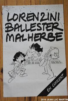 AFFICHE LORENZINI/ BALLESTER/ MALHERBE: ANNEES 80