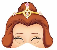 Belle Free Printable Masks.