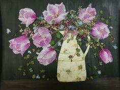 今回はシクラメンの花びらで作ってみました。     【さくら 吹雪の 押し花アトリエ プチ フルール】