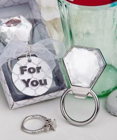 bling collection diamond ring bottle openers