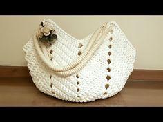 Bolsa De Praia De Crochê Com Fio de Malha - Tutorial de Crochê - Crochet Beach Bag Tutorial - YouTube