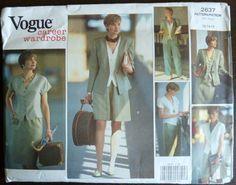 Vintage Sewing Pattern Vogue 2637 Career wardrobe - Misses Jacket, Top, Skirt, Shorts and Pants - Size 12, 14, 16 - UNCUT