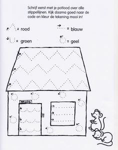 Kids at Work, Worksheet...Muis Fijne Motoriek Huis/ Mouse Fine Skills…