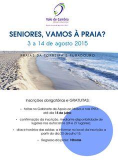 Seniores, Vamos à Praia? > 3 a 14 Agosto 2015 @ Praias da Torreira e Furadouro