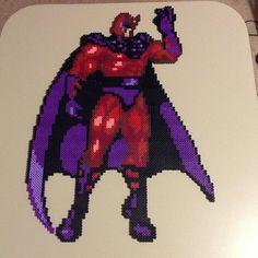 Marvel Magneto perler bead sprite by saladbrains Marvel Comics, Marvel Heroes, Perler Bead Art, Perler Beads, Geek Perler, Pixel Pattern, Bead Patterns, X Men, Pixel Art
