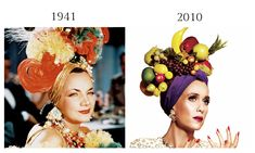 Carmen Miranda, That Night in Rio, 1941 and Kriste Wiig by Tom Allen for V Magazine, March 2010.