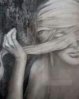 """""""LA VERITE'"""", olio minerale e stagno ossidato su tela """"VERITE'"""", mineral oil and and oxicized tin on canvas. www.elenarede.com"""