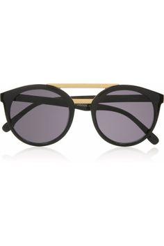Le Specs|Black Lagoon round-frame acetate sunglasses|NET-A-PORTER.COM