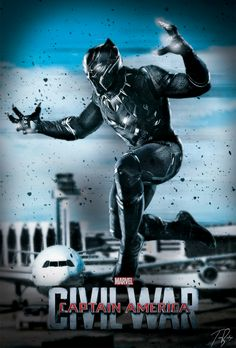 Captain America : Civil War fan poster l Black Panther Marvel Movie Posters, Marvel Characters, Marvel Movies, Film Posters, Black Panther Marvel, Captain America Civil War, Avengers Team, Marvel Avengers, Marvel Dc Comics