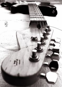 Fender Love | guitar | music | listen | rock star | black & white | photography |