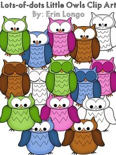 Free Clip art:  FREE owl clip art.  Color & black line.