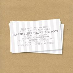 ~Bring a book instead of a card~ Children's book themed baby shower ~Invitation wording~