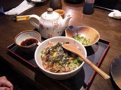 2013/01/11 Hen boiled rice in tea . 鶏ひつまぶし