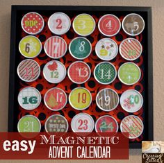 easy Magnetic Advent Calendar