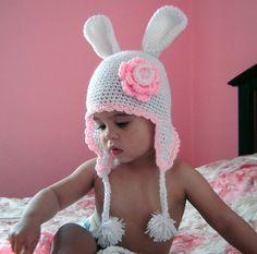 White Bunny Hat