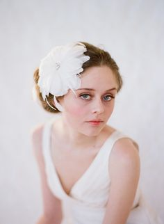 fascinators | Romantic feather fascinators for brides-to-be | OneWed.com