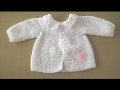 Aprende a Tejer una Chaqueta de bebé con canesú redondo / Tutorial | Todo crochet