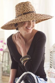 Woven Raffia Hat from Soft Surroundings