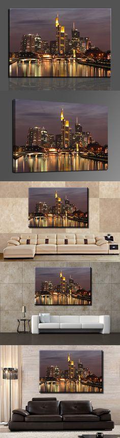 1 Piece HD Canvas Print Painting Modern Home decoration Wall Decor Art Hot Sell Bridge and city Cuadros Decoracion (Unframed)