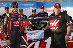 Kurt Busch wins the pole at Auto Club Speedway