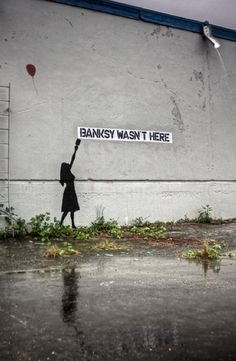 banksy Arte Banksy, Banksy Graffiti, Best Graffiti, Bansky, Graffiti Artists, Graffiti Wall, Urban Street Art, 3d Street Art, Street Artists