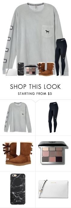 """cause you'll never be alone, i'll be with you from dusk till dawn "" by samanthars ❤ liked on Polyvore featuring NIKE, UGG, Bobbi Brown Cosmetics and Michael Kors"