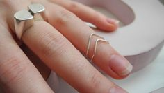 m é l i m é l o: Chevron Knuckle Ring