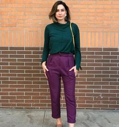 Trendy business casual outfits for women young professional 20 – wonders style Purple Outfits, Colourful Outfits, Colorful Fashion, Cool Outfits, Purple Pants Outfit, Fashion Colours, Pretty Outfits, Trajes Business Casual, Business Casual Outfits For Women