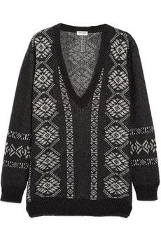 Saint Laurent Fair Isle wool-blend sweater | NET-A-PORTER