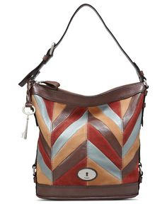 Click Image Above To Buy: Fossil Maddox Chevron Patchwork Bucket Chevron Patchwork - Fossil Leather Handbags Fossil Handbags, Fossil Bags, Online Bags, Leather Handbags, Leather Bags, Handbag Accessories, Bucket Bag, Chevron, Pouch
