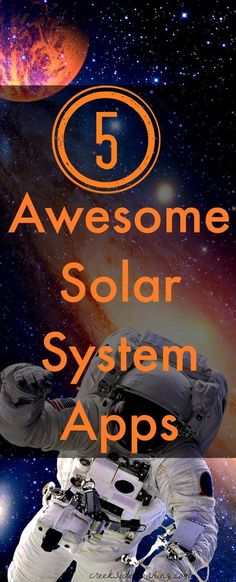 Educational apps for kids about the solar system. STEM learning for elementary and middle school.