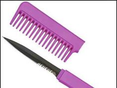 This pretty comb actually has a 3.25-inch blade hidden in the handle. Bonus — it comes in three colors: black, pink, and purple.