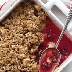 Crisp Topping - made for block party! 9 apples, 1 small container blackberries, juice of 1/2 lemon, 2 tbs brown sugar