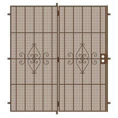 Unique Home Designs 72 in. x 80 in. Su Casa Copper Projection Mount Outswing Steel Patio Security Door with Expanded Metal Screen, Powder-Coat Copper Steel Security Doors, Security Screen, Sliding Patio Doors, Entry Doors, Metal Plant Stand, Casa Patio, Expanded Metal, Unique House Design, Metal Screen