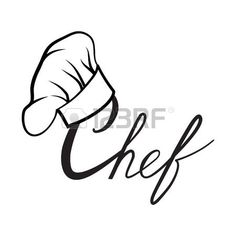 Cook hat drawn hat chef cook hat chef cooker vector for Cuisinier chapeau noir